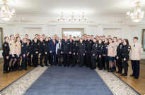 The Head of the European Union Advisory Mission had a meeting with cadets at the National Academy of Internal Affairs Фото